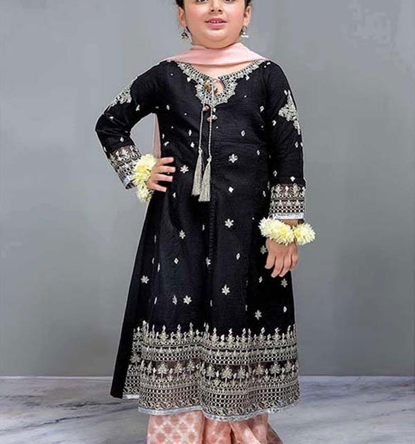 862005bd06 Designer Kids Collection 2019 Unstitched 2 Piece Suit Black - (101-DW)  (Unstitched)