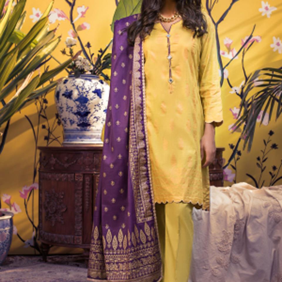 Banarsi Lawn Printed Collection 3 Pec Suit BY Z.S Textile (RBP-03) (Unstitched)