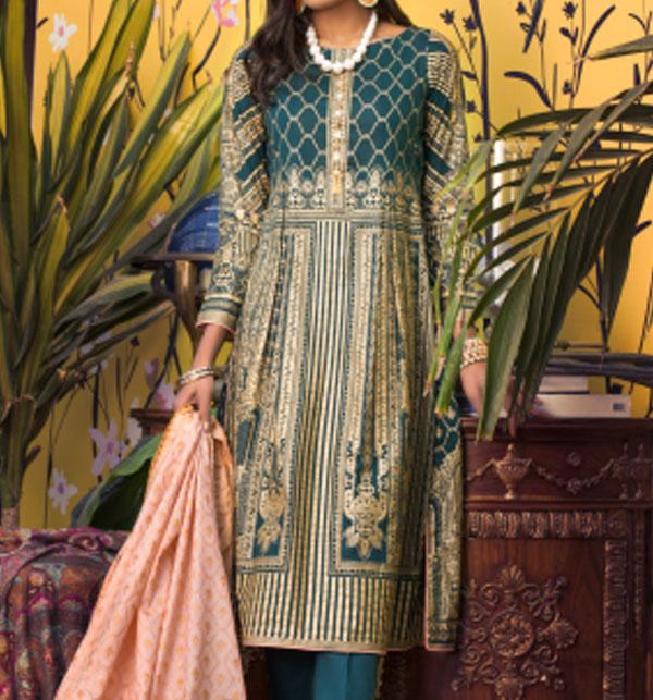 Banarsi Lawn Printed Collection 3 Pec Suit BY Z.S Textile (RBP-07) (Unstitched)