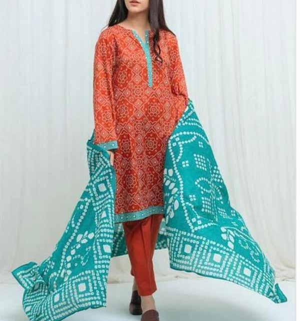 Digital Printed Lawn Dress 2021 With Lawn Dupatta (DRL-777)