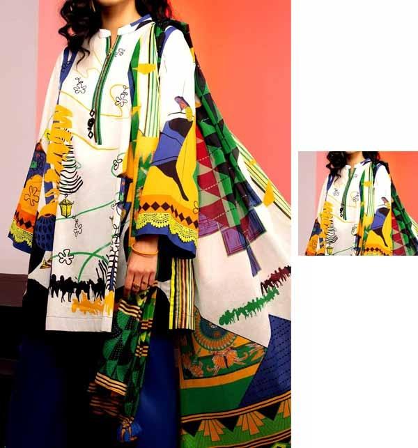 Digital Printed Lawn Suit With Digital Printed Lawn Dupatta (DRL-839)