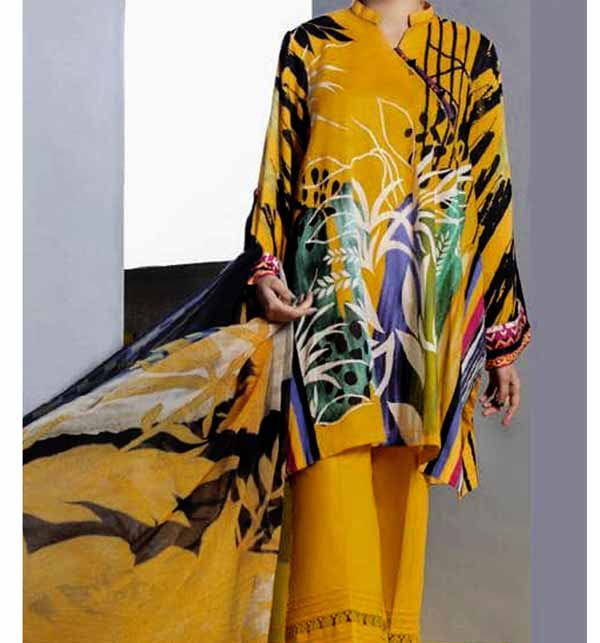 Digital Printed Lawn Suit With Digital Printed Lawn Dupatta (DRL-841)