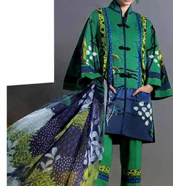 Digital Printed Lawn Suit With Digital Printed Lawn Dupatta (DRL-843)