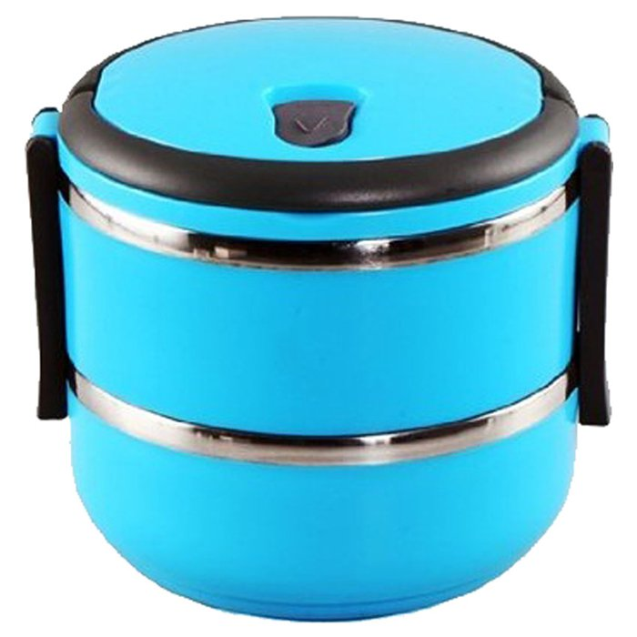 Easy Lock Stainless Steel Lunch Box 2 Layers (LB-02)