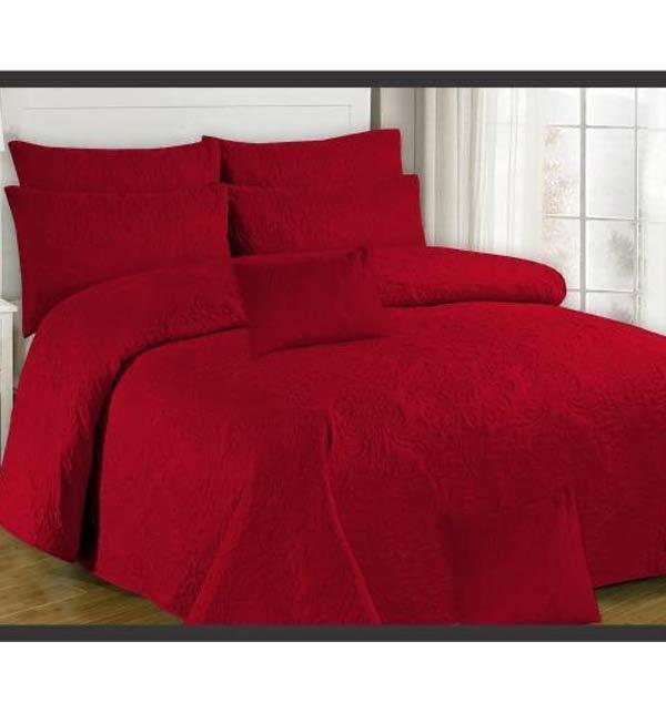 Wedding Egyptian Maroon Cotton Bed Sheet Design 2021 (BCP-65)