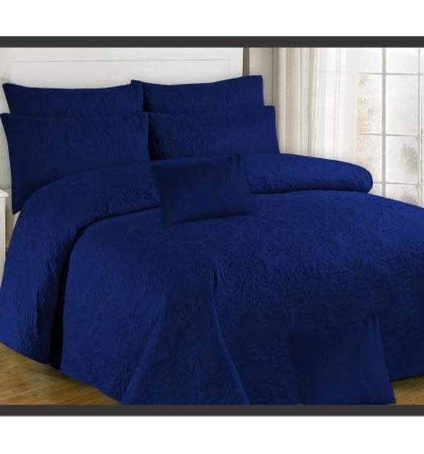 Egyptian Cotton Dark Blue Bed Sheet King Size (BCP-66)