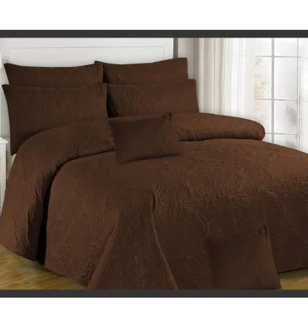King Size Dark Brown Egyptian Cotton Bed Sheet (BCP-67)