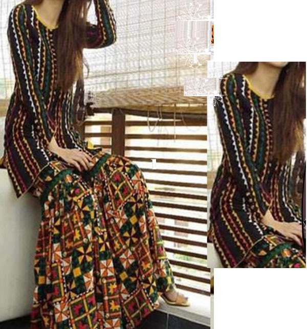 Lawn Heavy Embroidered Dress With Embroidered Trouser 2020 UnStitched (DRL-650)