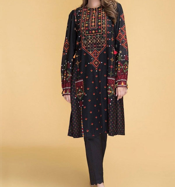 Lawn Heavy Embroidery Dress 2 Piece (Unstitched) (DRL-537)