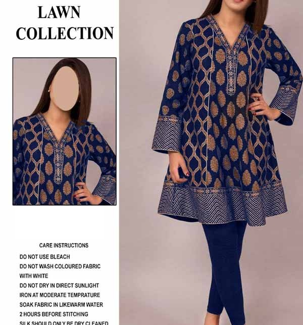 Eid Collection Ful Embroidered Lawn Dress 2-Pec Unstitched (DRL-796)