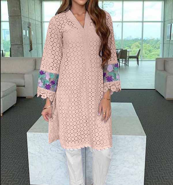 Eid Collection 2 pieces Lawn Embroidered Suit 2021 Unsicthed (DRL-799)