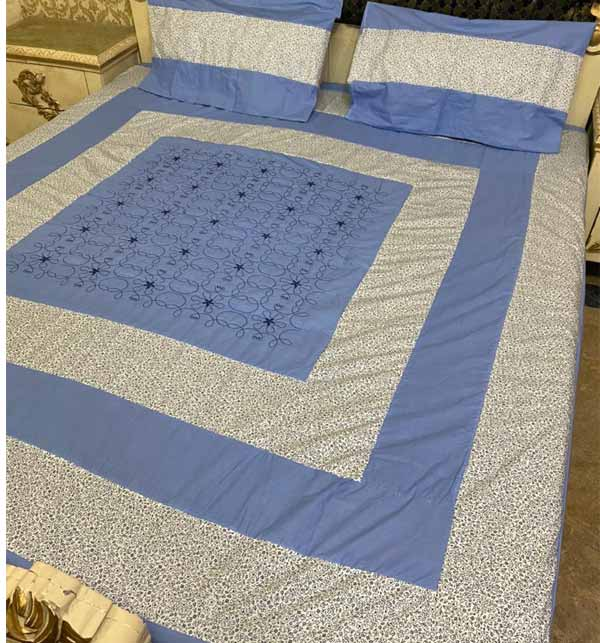 Eid Collection Cotton Bed Sheet With 2 Pillow Cover (BCP-29)