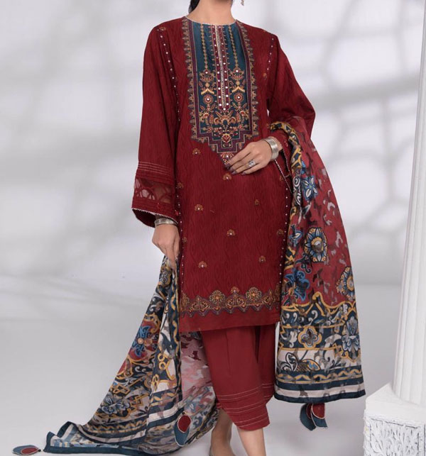 Eid Embroidered Lawn Collection 2020 With Lawn Duppata (Unstitched) (DRL-547)