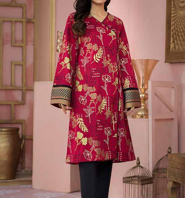 Luxury Full Embroidered Lawn Suit 2 PCS (Unsitched) (DRL-825)