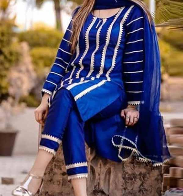 Eid Full Embroidered Lawn suit Shefali WIth EMB Trouser Unsicthed (DRL-746)