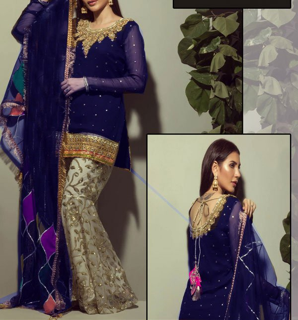 Embroidered Chiffon Dress Embroidered Trouser (CHI-235) (Unstitched)