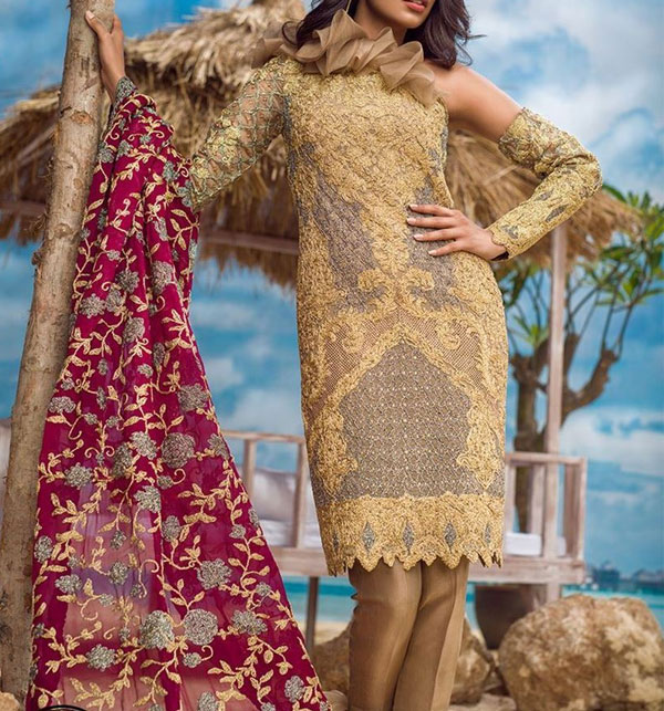 Embroidered Chiffon Suit Collection 2018 (CHI-146)