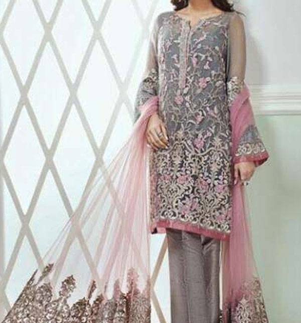 2cee2495197 Embroidered Net Suit (CHI-133) (Unstitched) Online Shopping   Price in  Pakistan