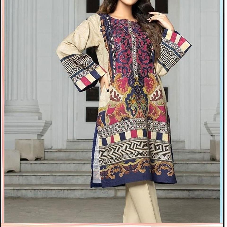 Embroidered Lawn Dress 2020 with LAWN Dupatta (DRL-448) (Unstitched)