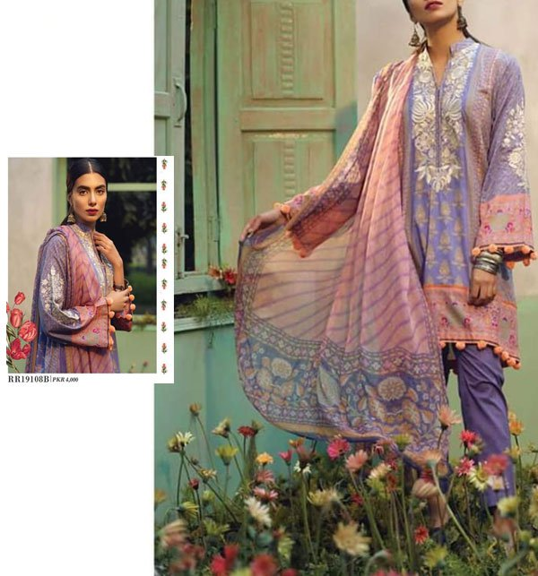 4a226452ac Embroidered Lawn Suit 3 PC New Summer Collection 2019 (DRL-329) (Unstitched)