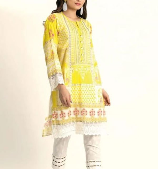 Embroidered Lawn Suit With Chiffon Dupatta (DRL-391) (Unstitched)