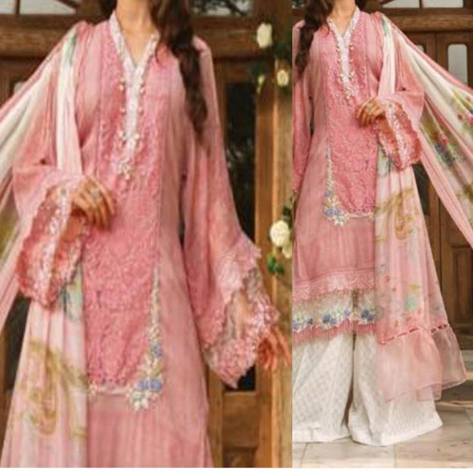 Embroidered Lawn Suit With Chiffon Dupatta (DRL-410) (Unstitched)