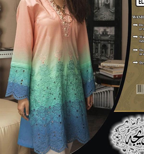 Schiffli Embroidered Lawn Dress with Chiffon Dupatta (Unstitched ) (DRL-513)