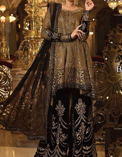 Embroidered Lawn Suits with Chiffon Dupatta (DRL-459) (Unstitched)