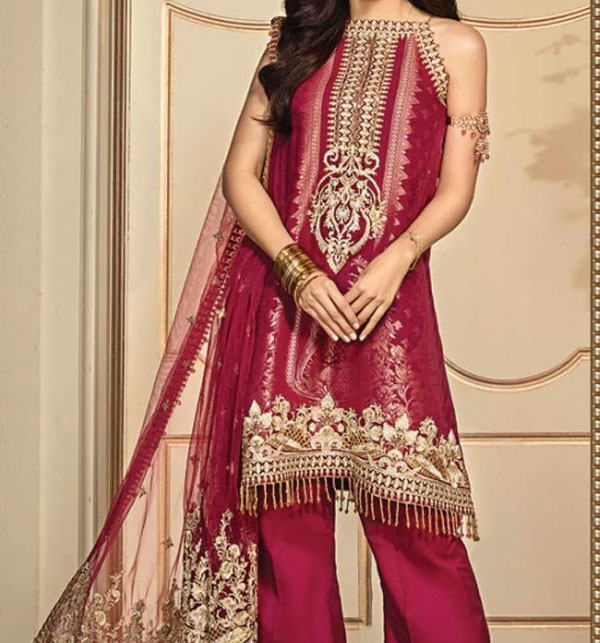 Embroidered Lawn Unstitched 3 Piece Suit - Luxury Lawn (UnStitched) (DRL-502)