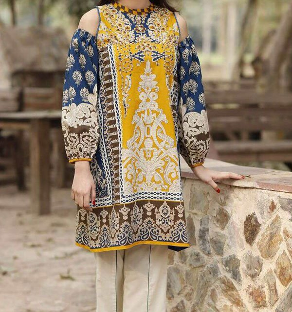 Lawn Embroidered Suit With Chiffon DUPATTA  (DRL-17)