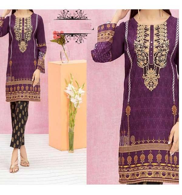 Embroidered Marina Dress with Marina Shawl Dupatta (KD-125)