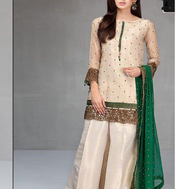 Embroidered Masoori Dress With Chiffon Dupatta (CHI-184)
