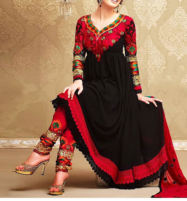 Embroidered Unstiched Chiffon Dress (CHI-62)