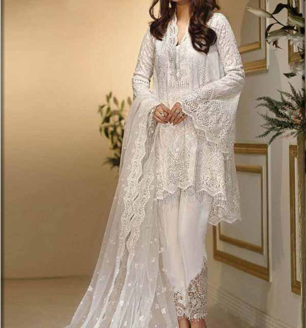 New Embroidered NET Party Dress (Unstitched) (CHI-149)