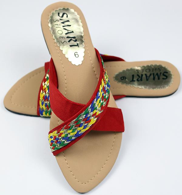 Fancy Women's Slipper - RED