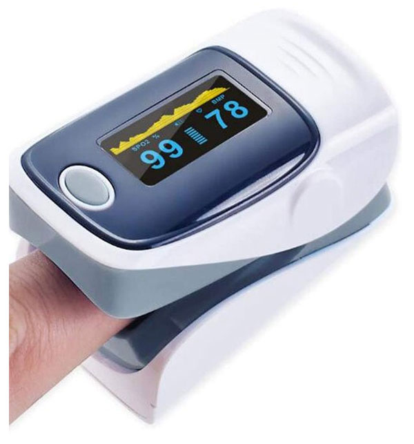 Finger Pulse Oximeter, OLED Display SPO2 Blood Oxygen Saturation Monitor