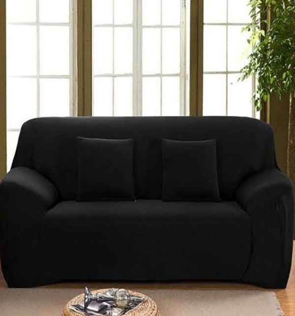Fitted Sofa Covers - 5 Seater - Black