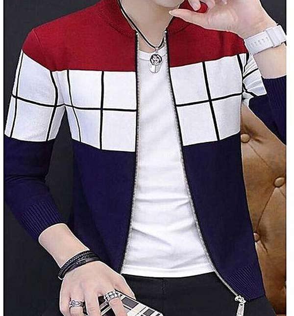 Fleece Stylish Zipper Jackets for Men-Multi colour