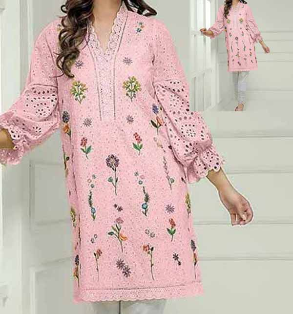 Lawn Full Heavy Embroidery Schiffli Embroidery Suit 2 PCS (DRL-716)