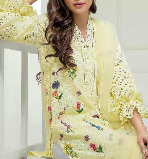 Full Embroidery Schiffli Embroidery Suit 2 PCS (DRL-717)