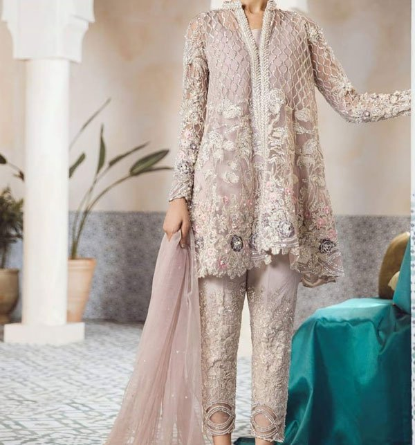 a74499a81867 FULL EMBROIDERY Designer 3PC NET Suit With NET Dupatta - PARTY WEAR DRESS  (CHI-243) (Unstitched)