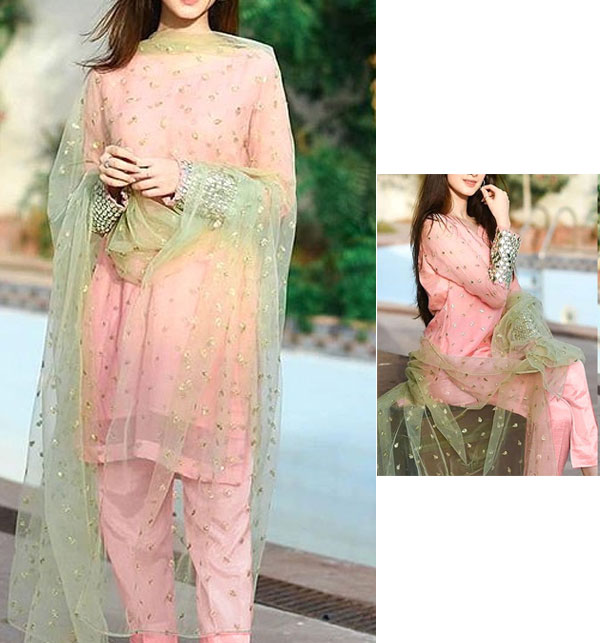 Fully Maysori Cotton Embroidered Suit With Net Dupatta (CHI-472)