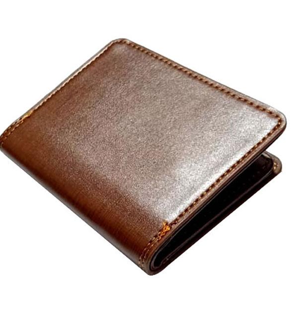 Gents Leather Wallet Flip-Window (W-10)