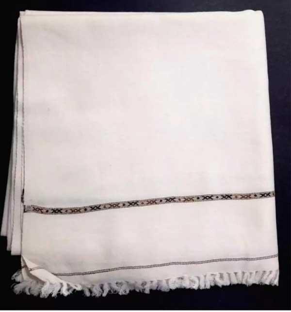 Gents Winter Soft Shawls White Large Size (Shawl 51)