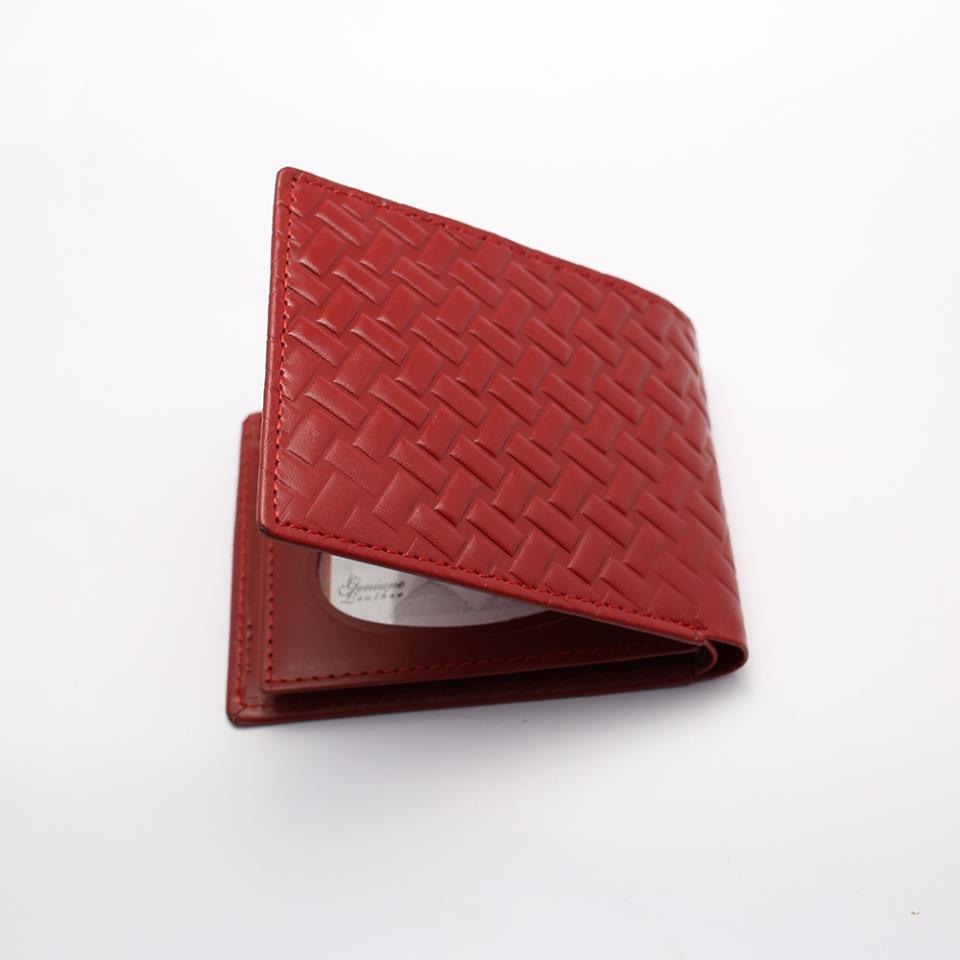 Genuine Leather Bi-fold Wallet (W4)