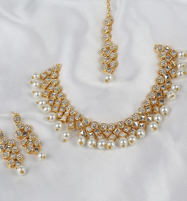 Golden And Pearl Jewelry Sets 2021 (PS-333)