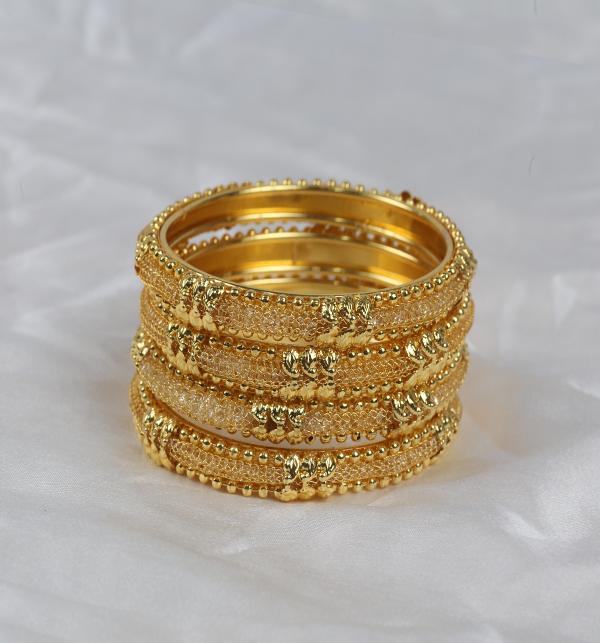 Golden Bangles for Women Online  (BH-70)