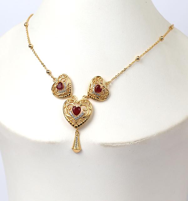 Golden Heart Pendant Set (PS-223)