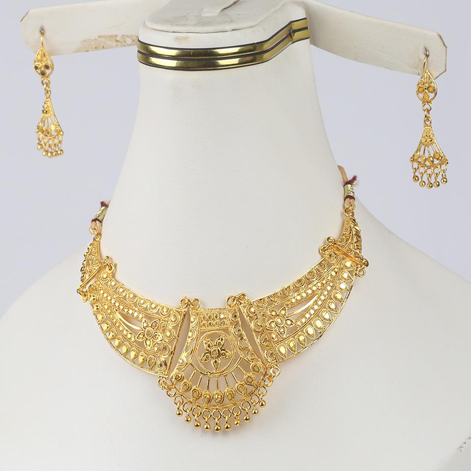 Golden Indian Artificial Jewellery Sets Design 2021 (PS-316)