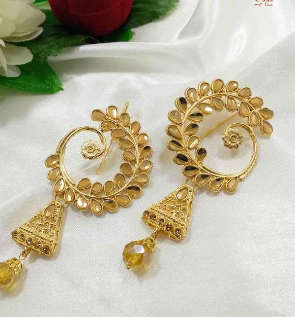 Golden Pearl Earrings  (JL-38)